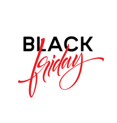 black friday lettering design for advertising vector image