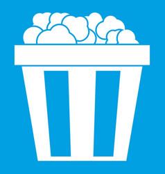 box of popcorn icon white vector image