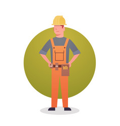 builder man icon engeneer occupation contractor vector image