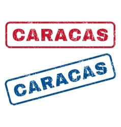 Caracas Rubber Stamps vector