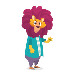 cartoon funny lion vector image