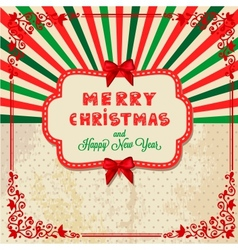 Christmas day card vector