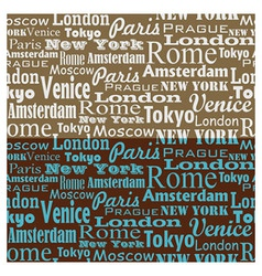 City name Text Pattern 1 vector image