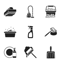 Cleaning set icons in black style Big collection vector