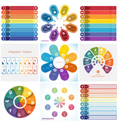 collections infographics elements template 8 vector image vector image