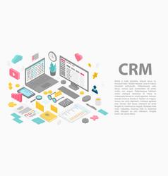 Customer relationship management concept banner vector