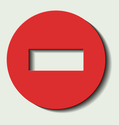 Dead end traffic sign eps10 vector