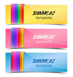 design template banners vector image