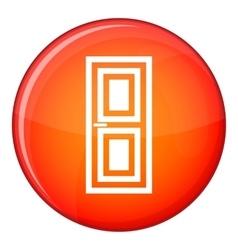 Door icon flat style vector
