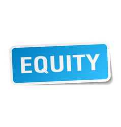 Equity square sticker on white vector