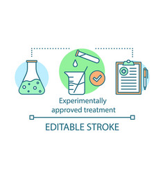 Experimentally approved treatment concept icon vector