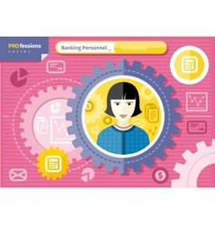 Female accountant profession concept vector