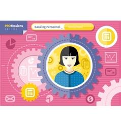 Female accountant profession concept vector image