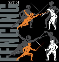 Fencing set vector