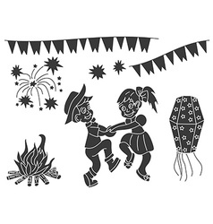 Festa Junina design elements vector image