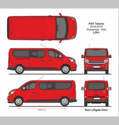 Fiat talento passenger van l2h1 2016-2019 vector