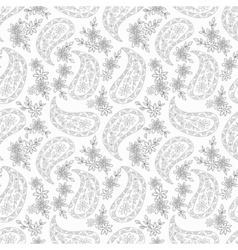 Floral contour seamless pattern vector image