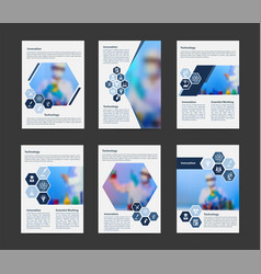 Flyer cover business brochure magazine vector