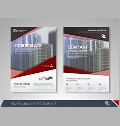 Flyer magazine cover brochure business vector