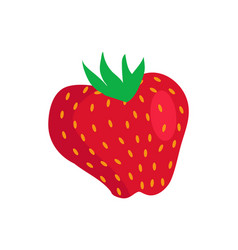 fresh strawberry isolated icon banner vector image