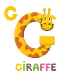 G is for giraffe letter g giraffe cute animal vector