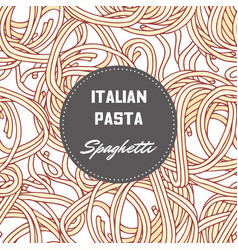Hand drawn background with pasta spaghetti vector