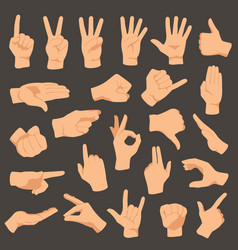 Hands gestures set arm vector