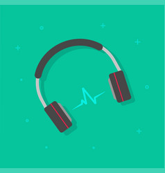 headphones playing music vector image