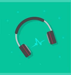 headphones playing music vector image