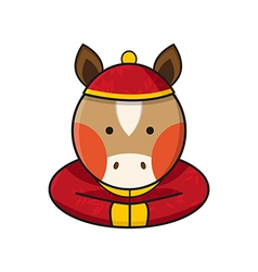 Horse Chinese vector image