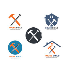 House build and renovation logo icon vector