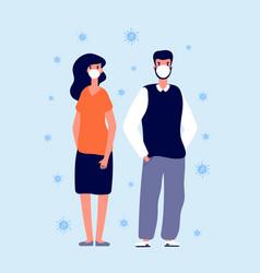 individual virus protection medical masks people vector image