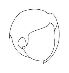 isolated cute wife face vector image