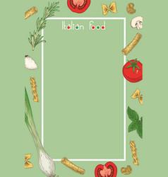 Italian food menu template vector
