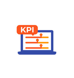 Kpi business indicator icon on white vector
