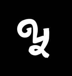 Letter y vintage grunge font label style letter vector