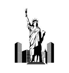liberty statue icon vector image