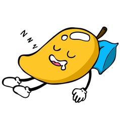 Mango character sleeping vector image