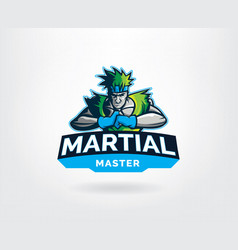 martial art master sport logo template vector image
