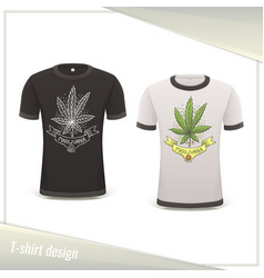Medical marijuana tshirt ten vector