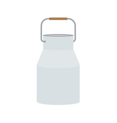 milk can isolated on a white background vector image