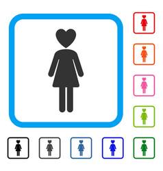 Mistress framed icon vector