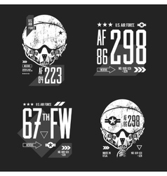 Modern American air force old grunge effect vector image