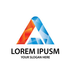 modern initial a logo vector image