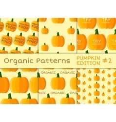 Organic seamless pattern collection fresh vector