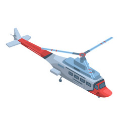 rescue helicopter icon isometric style vector image