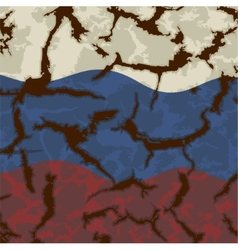 Russian grunge flag Grunge effect can be cleaned vector image