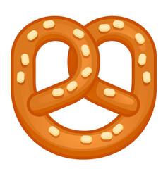 Salt pretzel icon cartoon style vector
