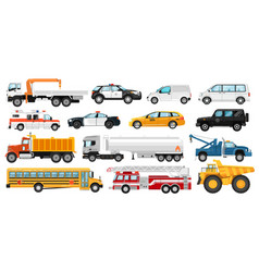 Service cars set vector