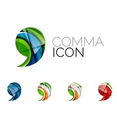 Set abstract comma icon business logotype vector